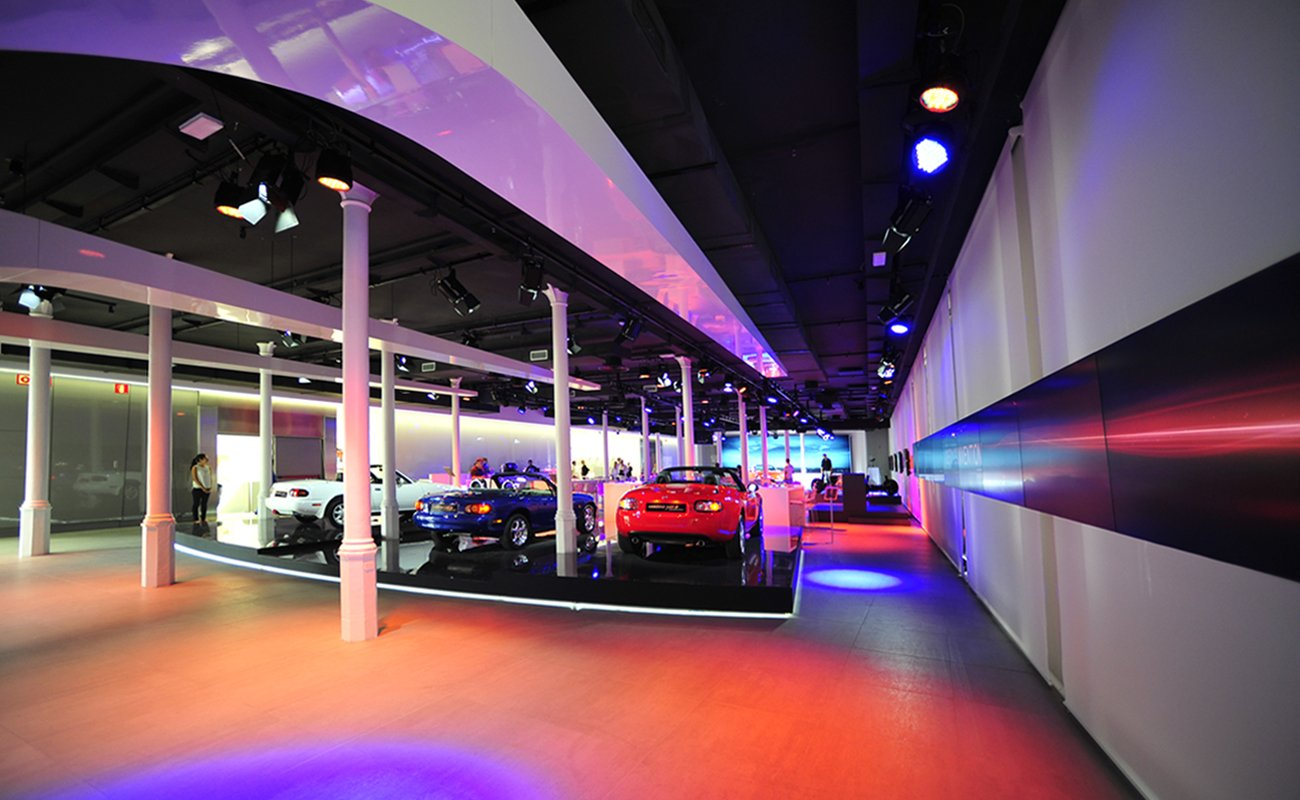 Mazda models exhibition at the Barcelona event space
