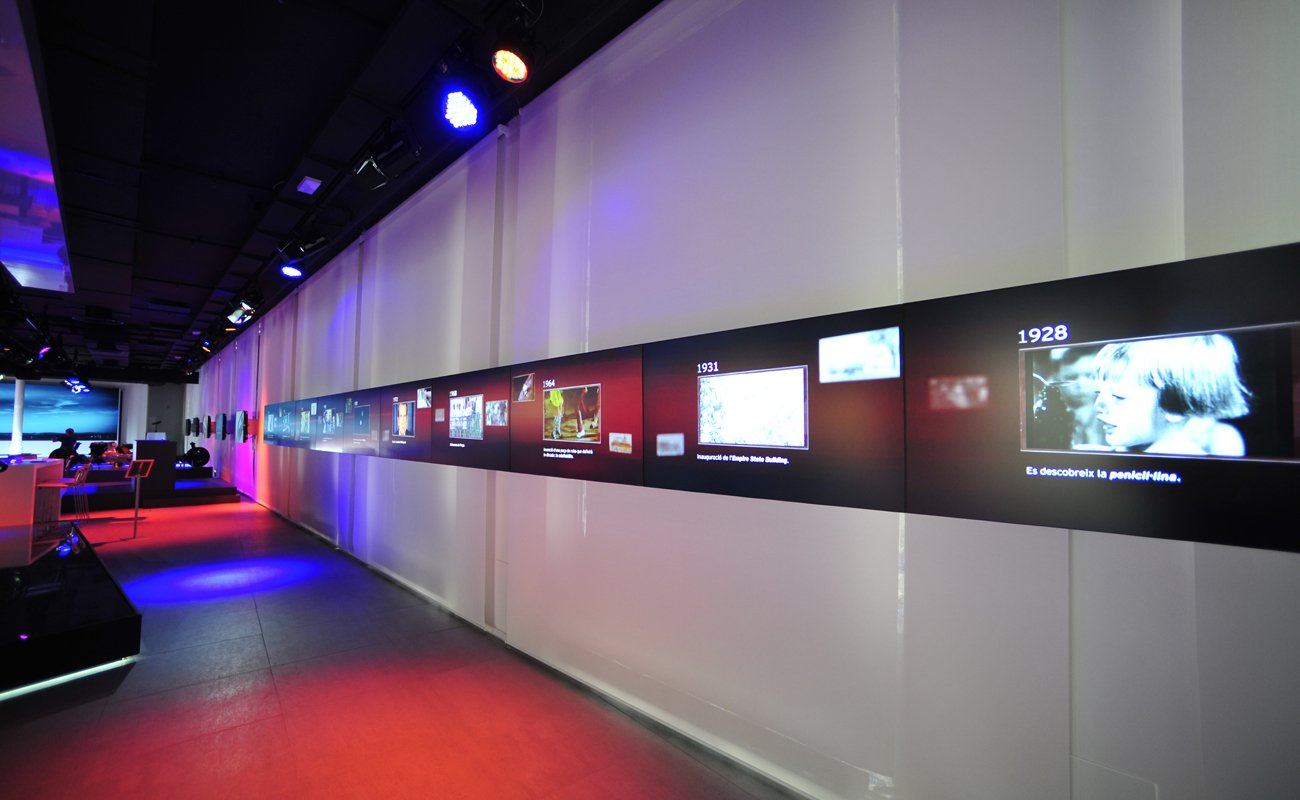 Multimedia installation detail at the Mazda Space Barcelona